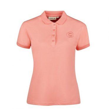 Dublin Ladies Ara Short Sleeve Cotton Polo - Pink