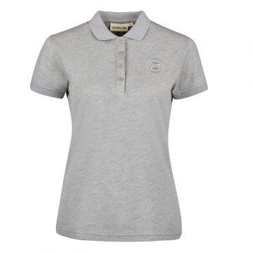 Dublin Ladies Ara Short Sleeve Cotton Polo - Gray