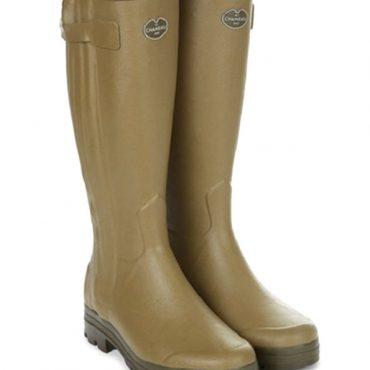 Le Chameau Chasseur Jersey Boots - Vert Vierzon