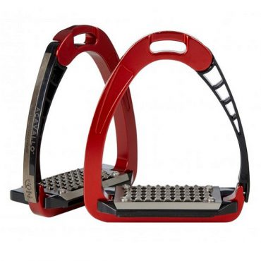 Acavallo Arena AluPro Safety Stirrup - Red