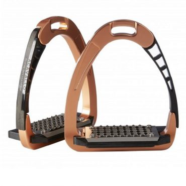 Acavallo Arena AluPro Safety Stirrup - Rose Gold
