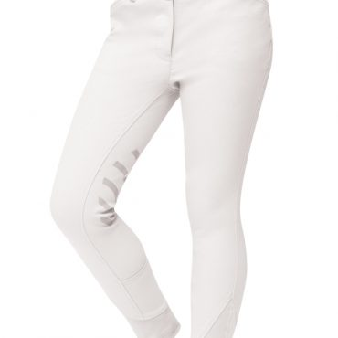 Dublin Childs Prime Gel Knee Patch Breeches White