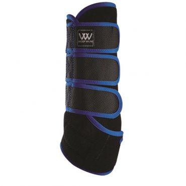 Woof Wear Dressage Wrap - Black/Electric Blue