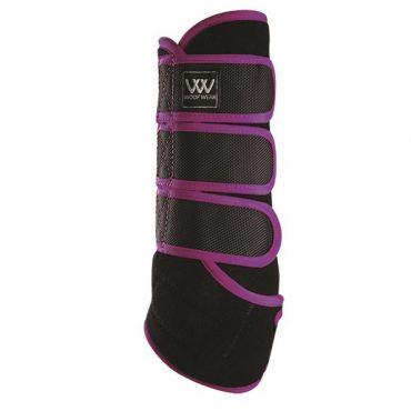 Woof Wear Dressage Wrap - Black/Ultra Violet