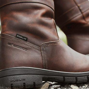 Red Brown Dublin Ladies Pinnacle Grain Boots Detailing