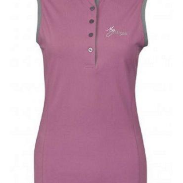 LeMieux Ladies Sleeveless Polo Shirt - Lavender/Grey