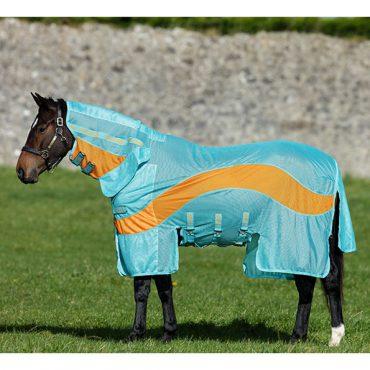 Horseware Amigo No Fly Zone Evolution Blanket - Aqua/Orange