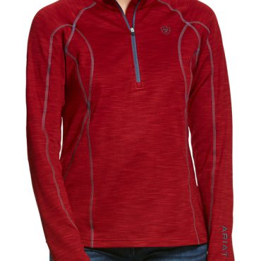 Ariat Ladies Conquest 2.0 Half Zip Sweatshirt Laylow Red