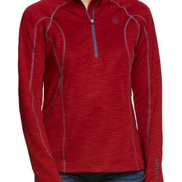 Ariat Ladies Conquest 2.0 Half Zip Sweatshirt Laylow Red