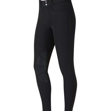 Kerrits Ladies 3 Season Tailored Knee Patch Breech-Black
