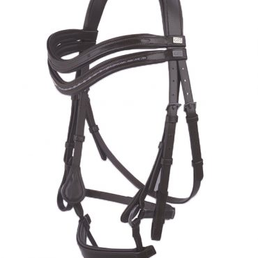 GFS Harmony Bridle with Rubber Reins - Black