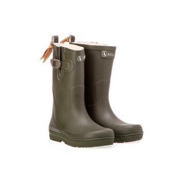 Aigle Childrens Woody Pop Boots - Kaki