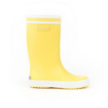 Aigle Childrens Lolly Pop Boots - Jaune/Blanc