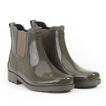 Aigle Ladies Carville Ankle Rubber Boots - Very Kaki Mat