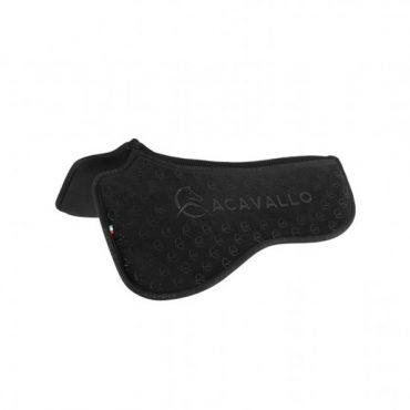 Acavallo Louvre Spine Free Silicone Memory Dressage Half Pad - Black
