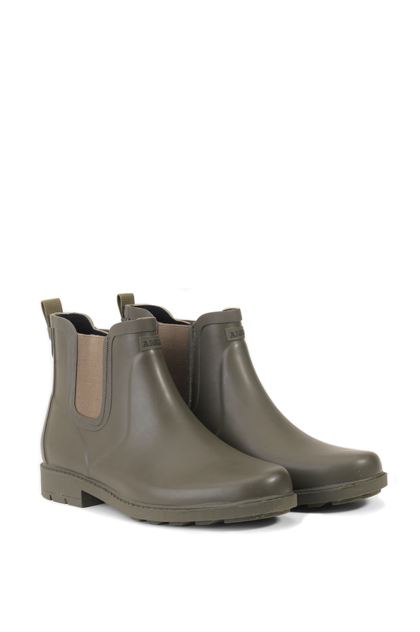 Aigle Ladies Carville Ankle Rubber Boots- Very Kaki