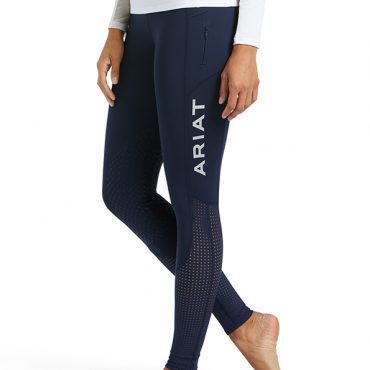 Ariat Ladies EOS Knee Patch Tights - Navy - Front