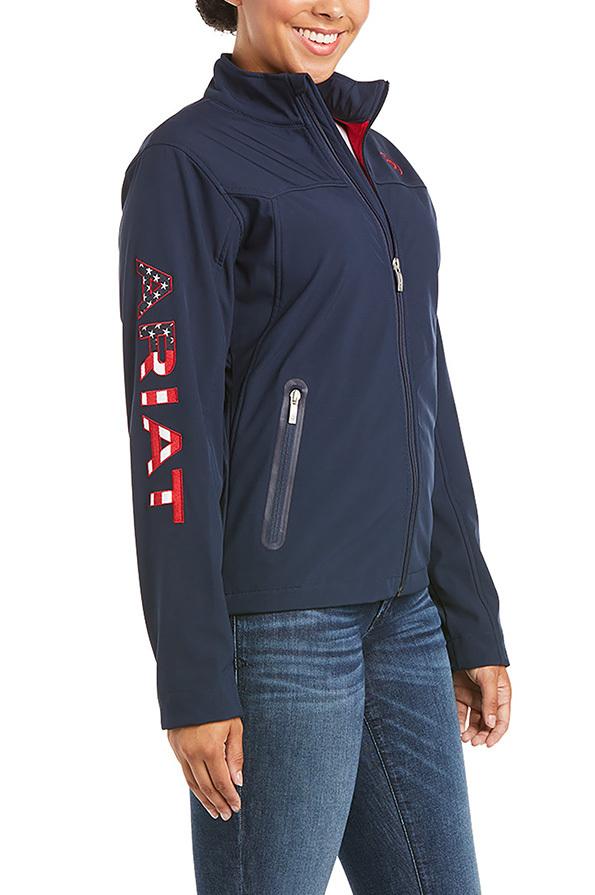 Ariat Ladies New Team Softshell Jacket  - Navy USA Front