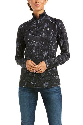 image of Ariat Ladies Sunstopper 2.0 Quarter Zip Sweater