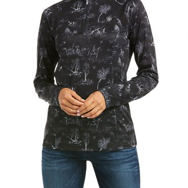 Ariat Ladies Sunstopper 2.0 Quarter Zip Sweater - Front
