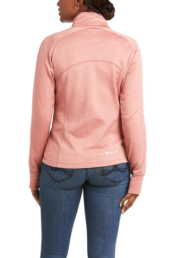 Ariat Ladies Tek Team Half Zip Sweater - Ash Rose - Back