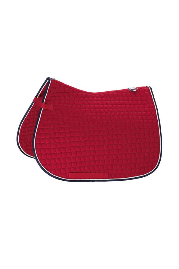 Eskadron Sports Contrast Cotton Saddle Cloth - Chili