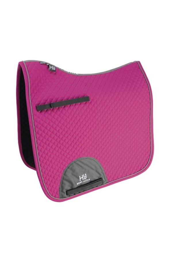 Hy Sport Active Dressage Saddle Pad - Cobalt Pink