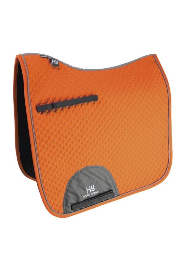Hy Sport Active Dressage Saddle Pad - Terracotta Orange