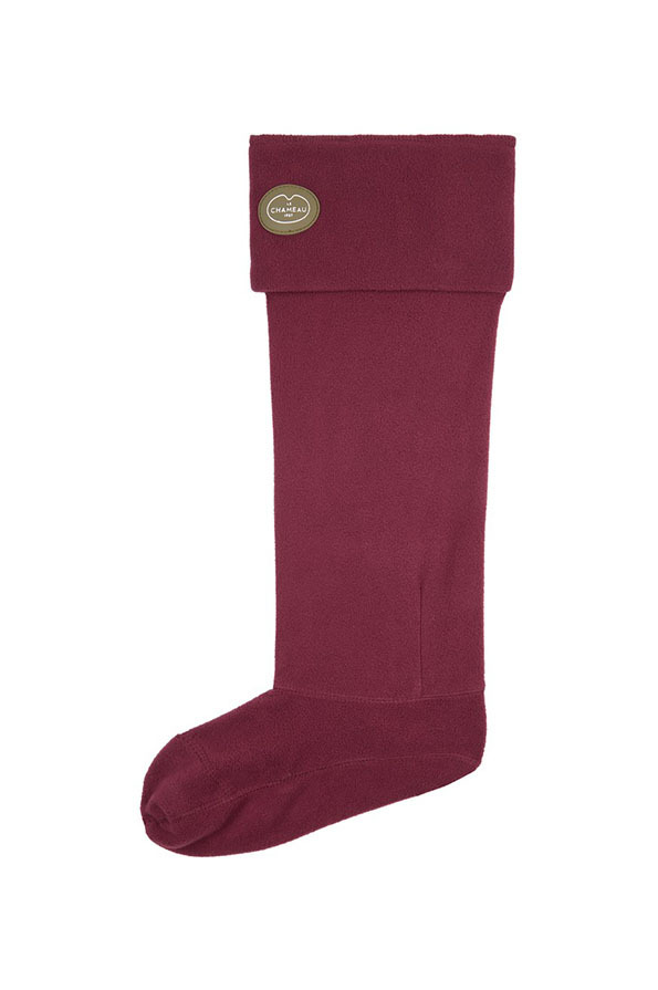 Le Chameau Fleece Boot Liners - Cherry