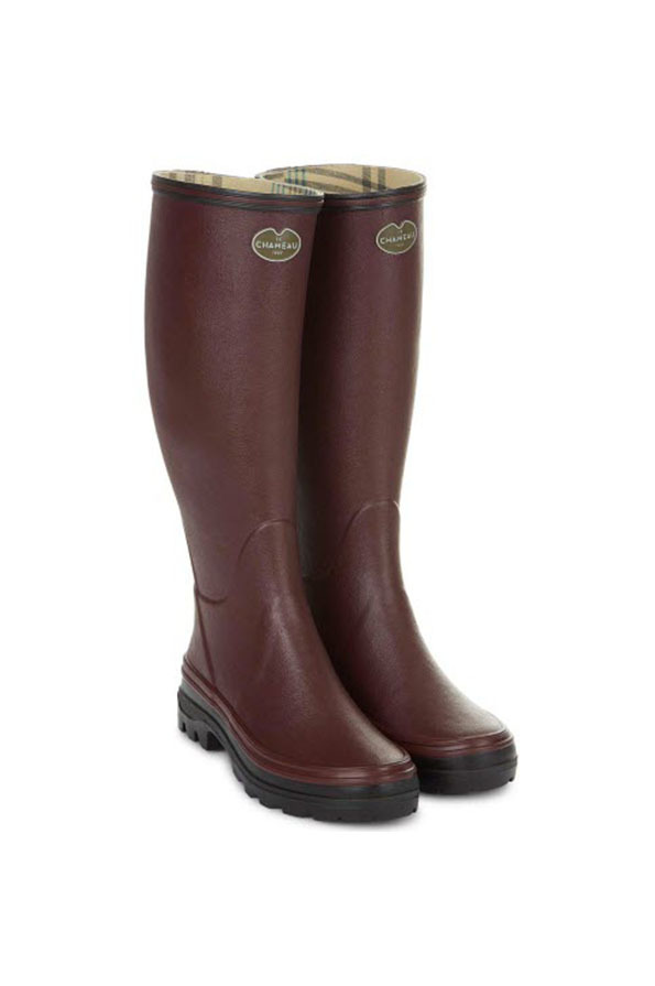 Le Chameau Ladies Giverny Boots - Cherry