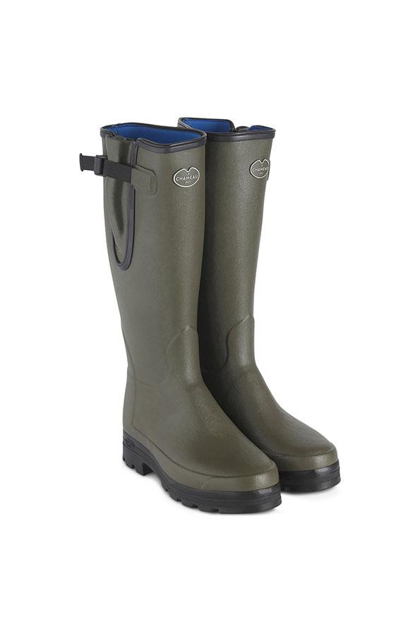 Le Chameau Mens Vierzonord Neoprene Lined Wellington Boots - Vert Chameau