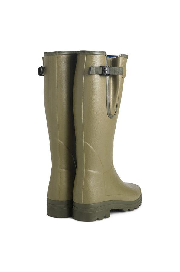 Le Chameau Mens Vierzonord Neoprene Lined Wellington Boots - Vert Vierzon
