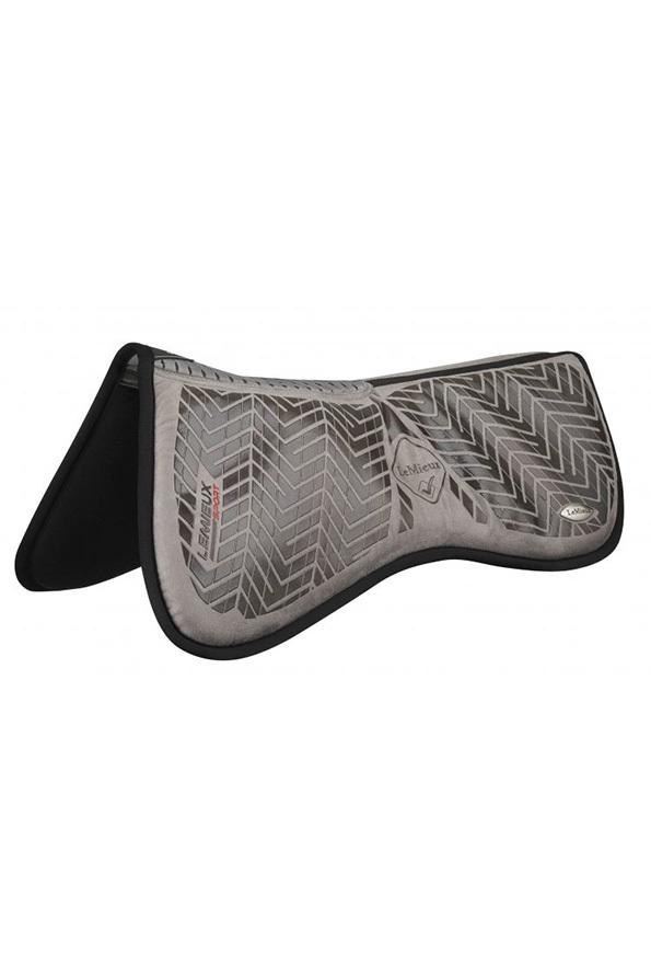 LeMieux Sports Grip Memory Half Pad - Grey