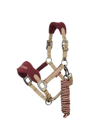 image of LeMieux Vogue Fleece Halter and Leadrope in Rioja