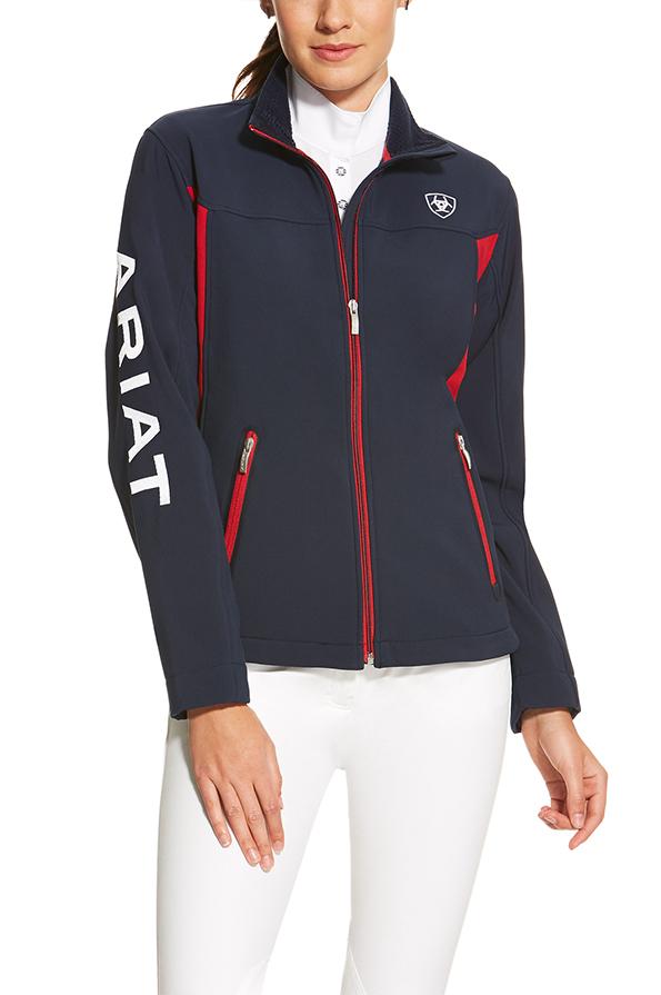 Ariat Ladies New Team Softshell Jacket  - Navy
