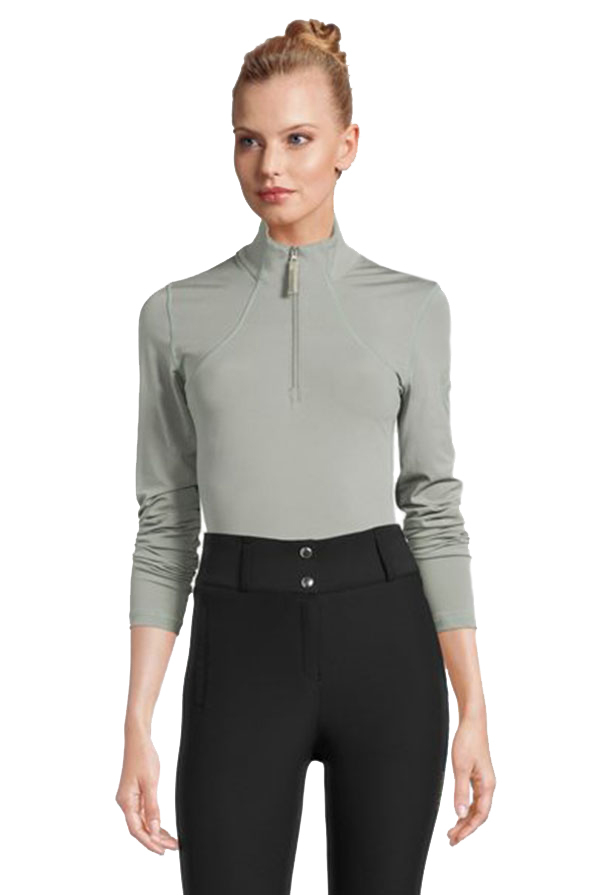 PS of Sweden Alessandra Half Zip Base Layer - Thyme Front