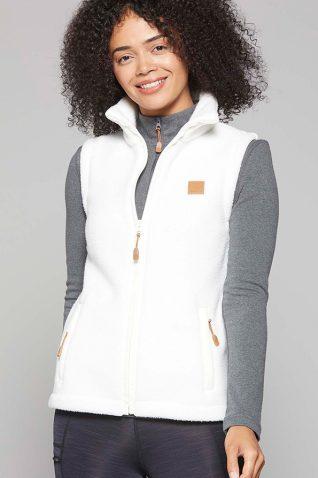 image of Toggi Ladies Fog Fleece Vest in Cream