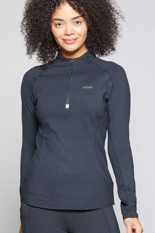 image of Toggi Ladies Winter Reflector Technical Base Top in Jet Black